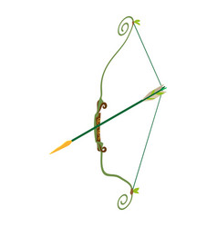 Bow icon isometric style vector