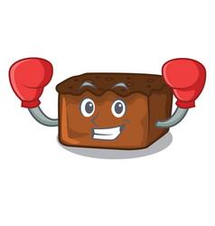 Boxing brownies character cartoon style vector