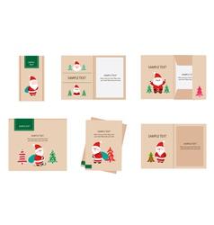 Brand identity santa claus christmas retro vector
