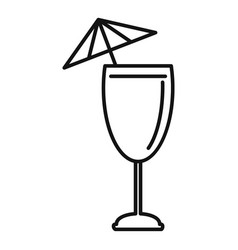 Cocktail umbrella icon outline style vector