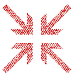 Collide arrows fabric textured icon vector