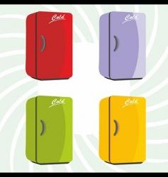 color refrigerator background vector image