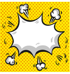 comic speech cloud with explosion and rays on vector image