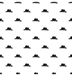 Cowboy hat pattern simple style vector