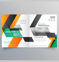 Creative bifold brochure design template with vector