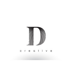 D logo design with multiple lines and black and vector