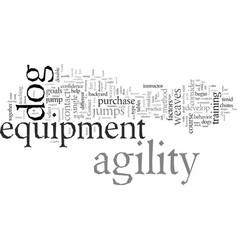 Dog agility equipment where do i begin vector
