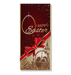Easter greeting card with greeting inscription - vector