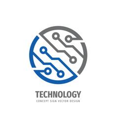 Electronic technology - logo design vector