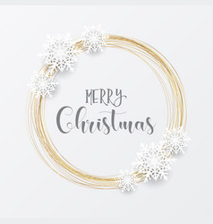 elegant christmas background with gold circular vector image