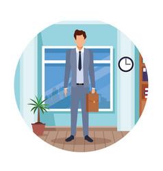 executive man cartoon vector image
