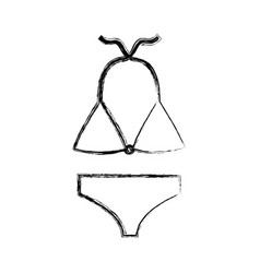 Female swimwear isolated icon vector