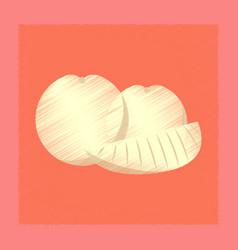 Flat shading style icon orange slice vector