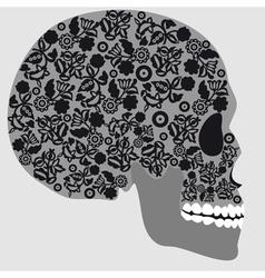 Floral skull vector image