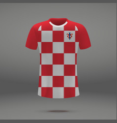 Football kit of croatia vector
