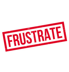 frustrate rubber stamp vector image