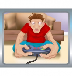 Gamer illustration vector