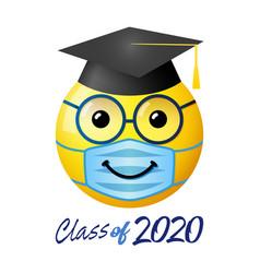graduation 2020 state emergency 3d emoji vector image