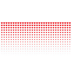 halftone hearts gradient background valentines vector image