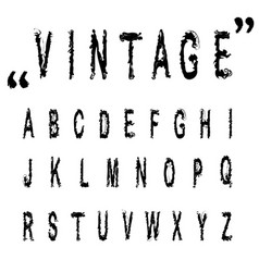 hand drawn letters vintage alphabet abc n vector image