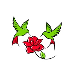 Hummingbird sign vector image