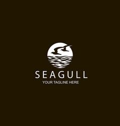 icon seagulls vector image