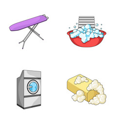 Ironing board and other accessories dry cleaning vector