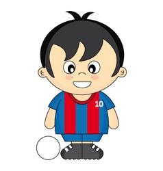 kids soccer vector image