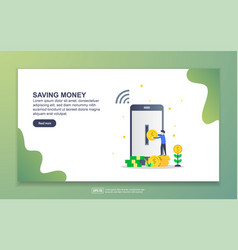 landing page template saving money modern flat vector image