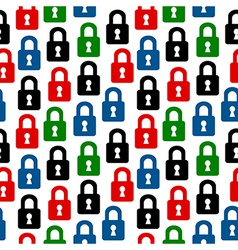 Lock icon seamless pattern vector
