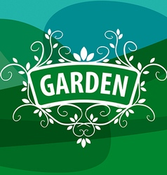 logo ornament from plants for the garden vector image