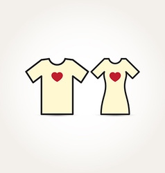 Love Heart Couple Shirt vector image