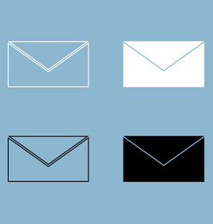 mail the black and white color icon vector image