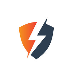 Modern electrical industry shield logo vector