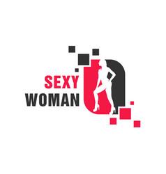modern sexy woman logo vector image