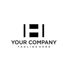 monogram h logo vector image