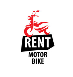 Motorcycle logo for rent on vector