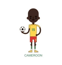 National cameroon soccer football player vector