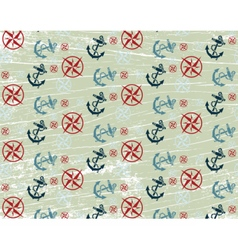 Nautical or marine themed pattern vector image