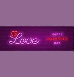 Neon love design vector
