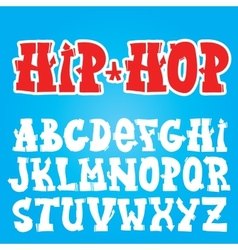 Old school graffiti font vector image