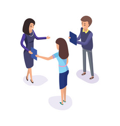 people planning business strategy workers meeting vector image