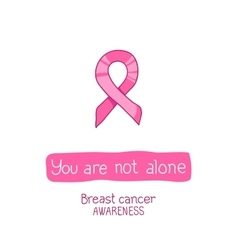 Pink ribbon international symbol of breast cancer vector