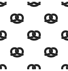 Pretzel icon in black style isolated on white vector image