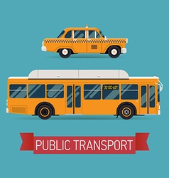 Public Transport Icon Set vector image