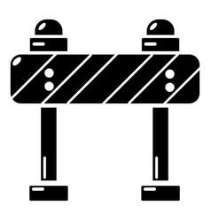 road block icon simple black style vector image