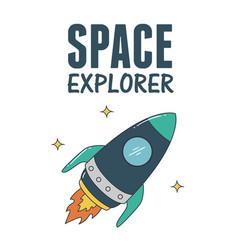 Rocket space explorer vector