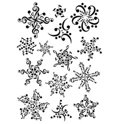 snowflake notes music christmas notes vector image
