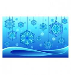 snowflake on thread vector image