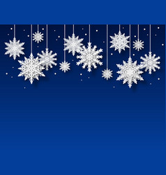 snowflakes background papercut white snowflake vector image